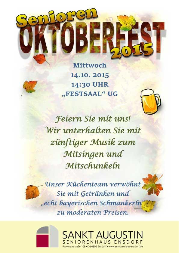 einladung zum senioren-oktoberfest – sankt augustin, Einladung